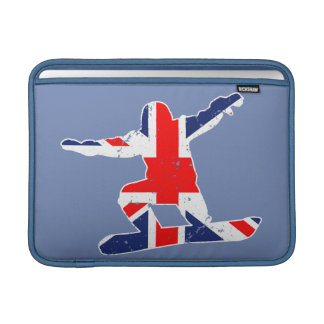 Union Jack SNOWBOARDER (wht) Sleeve For MacBook Air