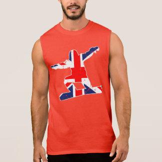 Union Jack SNOWBOARDER (wht) Sleeveless Shirt