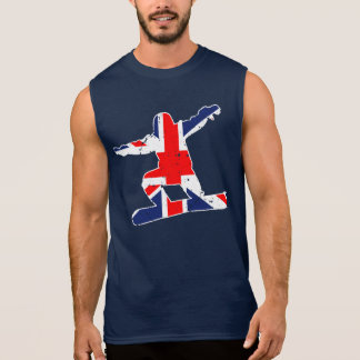 Union Jack SNOWBOARDER (wht) Sleeveless Shirt