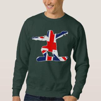 Union Jack SNOWBOARDER (wht) Sweatshirt