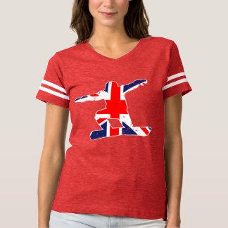 Union Jack SNOWBOARDER (wht) T-shirt