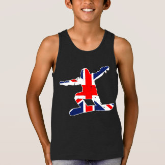 Union Jack SNOWBOARDER (wht) Tank Top
