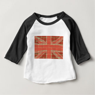 Union Jack Sprayed on a Wall Baby T-Shirt
