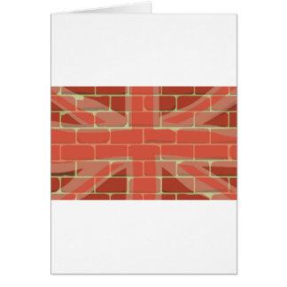 Union Jack Sprayed on a Wall Card