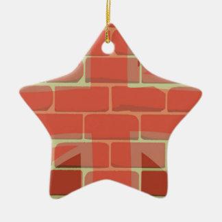 Union Jack Sprayed on a Wall Ceramic Ornament