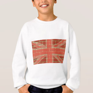 Union Jack Sprayed on a Wall Sweatshirt