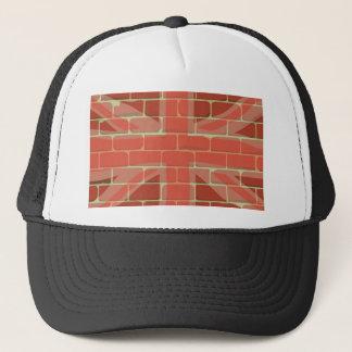 Union Jack Sprayed on a Wall Trucker Hat