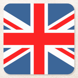 Union Jack Square Paper Coaster