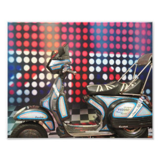 union jack stage vespa art photo