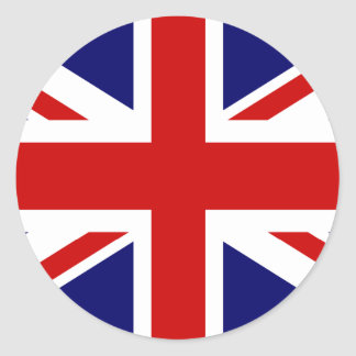 Union jack stickers | round