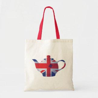 Union Jack Teapot Tote Bag