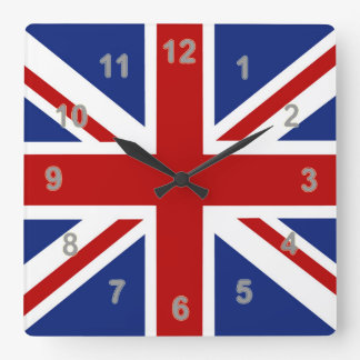 Union Jack Time Square Wall Clock