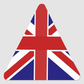 Union Jack Triangle Sticker