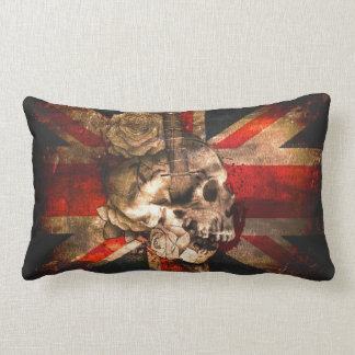 Union Jack UK Flag Gothic Lumbar Pillow