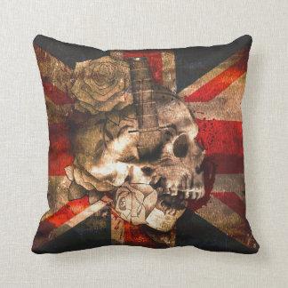 Union Jack UK Flag Gothic Throw Pillow