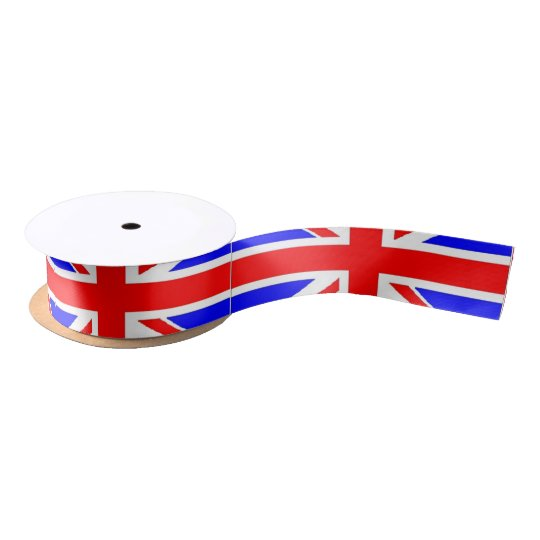 Union Jack UK flag Satin Ribbon