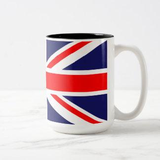 Union Jack - UK Flag Two-Tone Coffee Mug