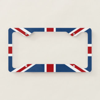 Union Jack UK Patriotic Flag License Plate Frame