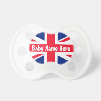 Union Jack United Kingdom British Flag Pacifier