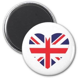 Union Jack United Kingdom Heart Magnet