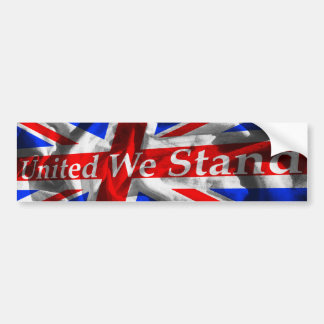 Union Jack 'United We Stand' Bumper Sticker