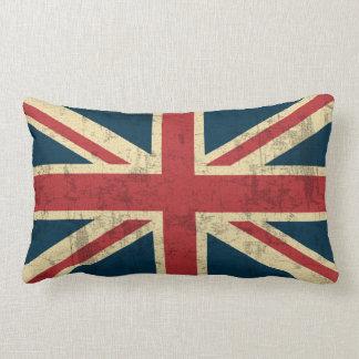 Union Jack Vintage Distressed Lumbar Pillow