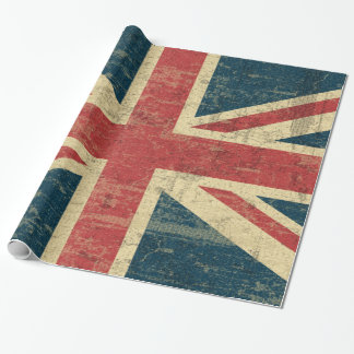 Union Jack Vintage Distressed Wrapping Paper