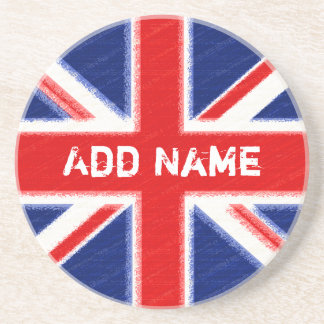 Union Jack with area for personalization Coaster