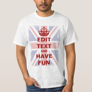 Union Jack With Your Own Text Tshirt