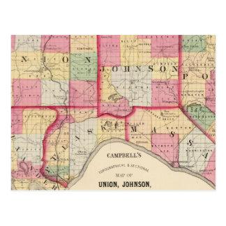 Union, Johnson, Alexander, Pulaski Postcard