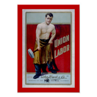 Union Labor Lable Poster
