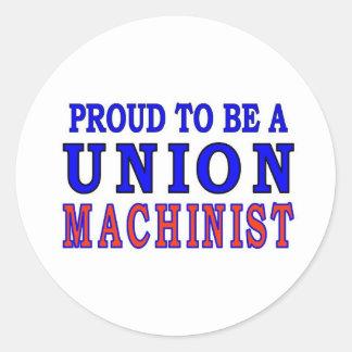 UNION MACHINIST ROUND STICKER
