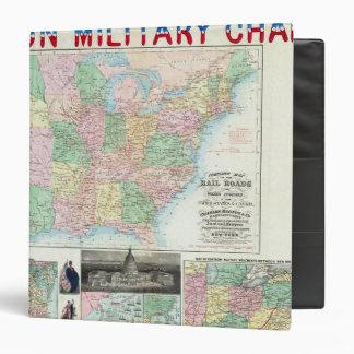 Union Military Chart Vinyl Binders