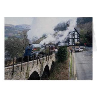 Union of South Africa Steam Train, on Berwyn Viadu Card