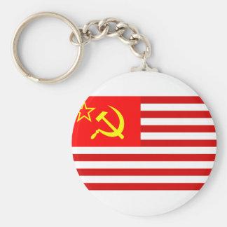 Union Of Soviet States Of America, Democratic Repu Keychain