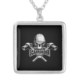 Union Scaffolder: Skull and Sockets Silver Plated Necklace