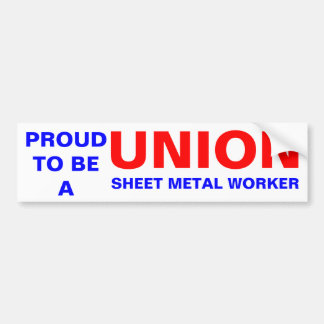 UNION SHEET METAL WORKER BUMPER STICKER