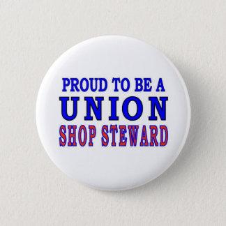 UNION SHOP STEWARD 2 INCH ROUND BUTTON