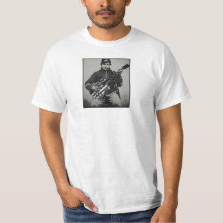 Union Soldier with Modern Guitar Value T-Shirt