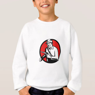 Union Soldier With Pistol Circle Woodcut Sweatshirt