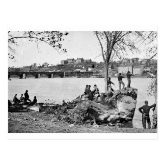 Union soldiers guarding the Potomac River in 1861 Postcard
