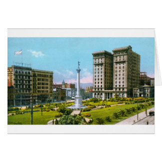 Union Square and St. Francis Hotel Greeting Cards