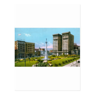 Union Square and St. Francis Hotel Postcard