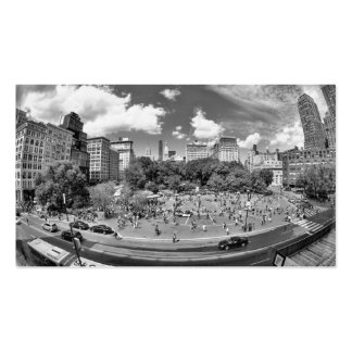 Union Square NYC From Above, B&W, Fish Eye View Business Card
