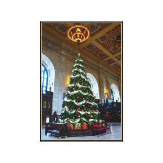 Union Station Christmas Tree, Kansas City Gallery Wrap Canvas