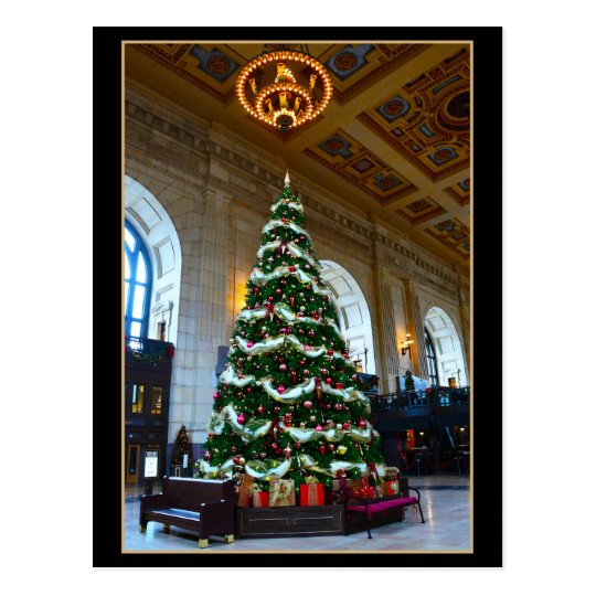 Union Station Christmas Tree, Kansas City Missouri Postcard
