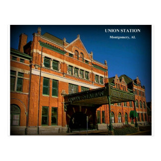 UNION STATION - Montgomery, Alabama Postcard