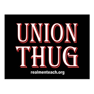 UNION THUG POSTCARD