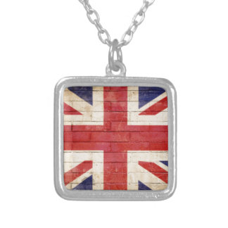 unionflag silver plated necklace