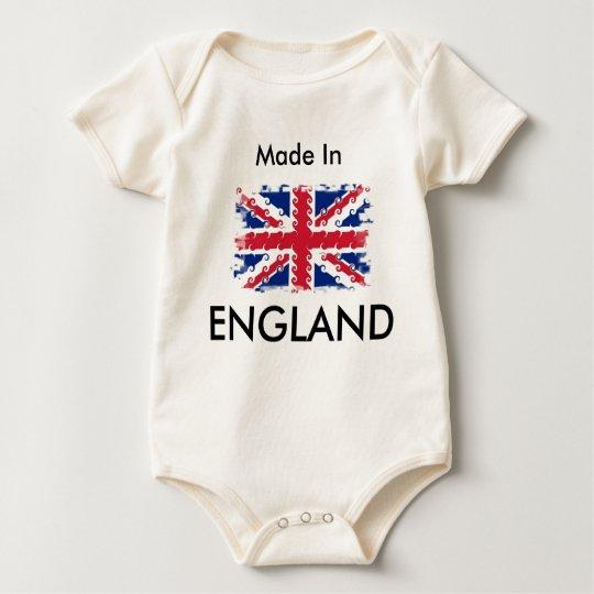 UnionJack , Made In, ENGLAND Baby Bodysuit